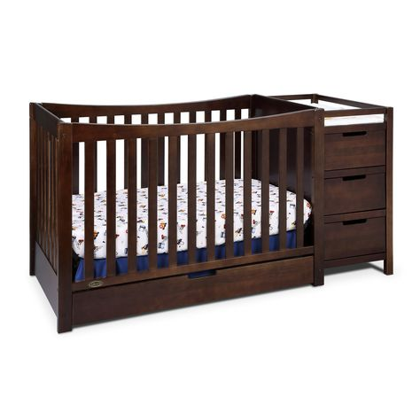 Graco Remi 4 In 1 Convertible Crib And Changer 04586 211 Convertible Crib Cribs Crib With Changing Table