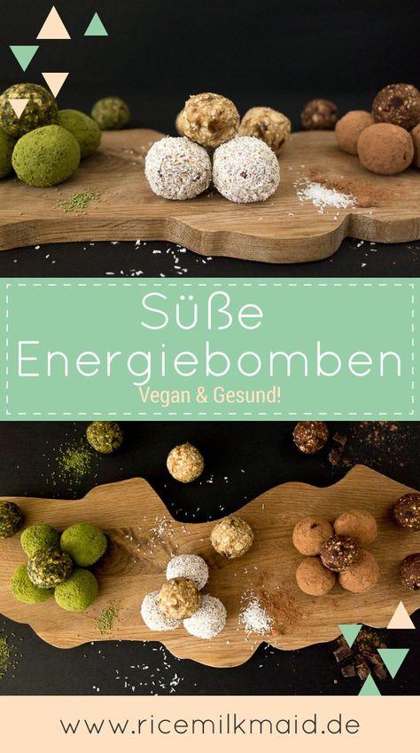 Süße Energiebomben - komplett vegan. Das Grundrezept besteht aus