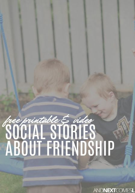 graphic regarding Free Printable Social Stories for Preschoolers named Cost-free Social Reports With regards to Friendship Social/Psychological
