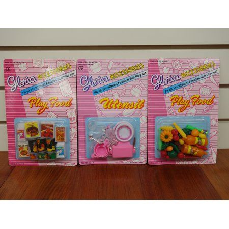 GLORIA DOLL HOUSE FURNITURE Vegetable +Utensil 95021 +Fridge Food 95023 95022