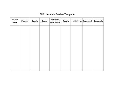 literature review matrix template - Google Search Literature - literature review template