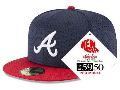Atlanta Braves New Era Mlb Retro Classic Batting Practice 59fifty Cap Atlanta Braves New Era Snapback Hats Men