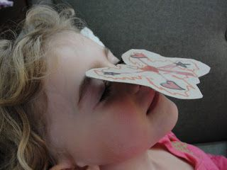 kitchen counter chronicles: Can you balance a butterfly on your nose?