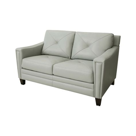 Square Armed Contemporary Styled Rexine Upholstered Sofa Set Gharpedia In 2020 Love Seat Sofa And Loveseat Set Top Grain Leather Sofa