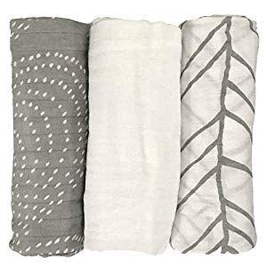 Ultra Soft Muslin Swaddle Blankets Premium Receiving Blanket for Boys /& Girls 47 x 47 Solid Color Blue Blanket