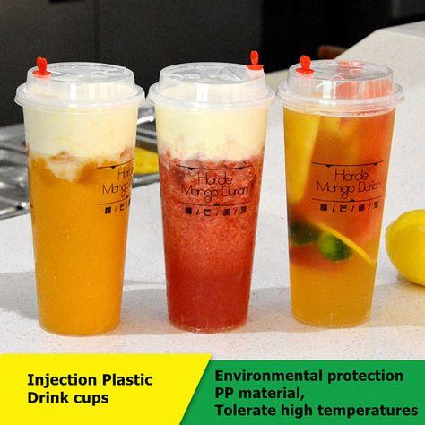20 قطعة الصيف البلاستيك 0 درجة الجليد كوب ماء بارد القهوة عصير عصائر الفاكهة المشروبات زجاجة مثلج أكواب ب Fruit Juice Smoothie Fruit Smoothies Coffee Smoothies