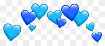 Blue Heart Hearts Tumblr Blueheart Emoji Sticker Blue Heart Crown Png Clipart Ideias Para Videos Do Youtube Videos Do Youtube Tumblr