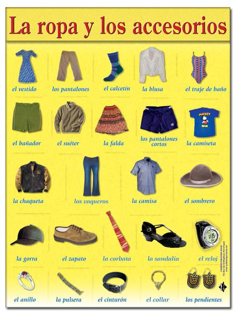 Learn Words And More On Memrise Spanish Clothing Learning Spanish Spanish Outfits