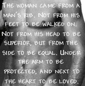 A a Woman Came From Man's Rib Quotes