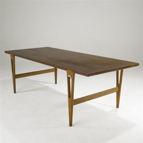 Dining Table By Hans J Wegner And Johannes Hansen Brass Dining