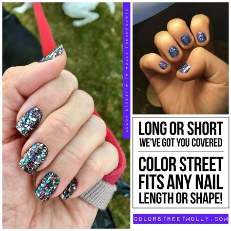 Your nails will look great whether long or short so why not try Color Street today? Square Acrylic Nails, Long Acrylic Nails, Short Nails, Long Nails, Latest Nail Designs, Street Image, Nail Length, Street Marketing, Guerrilla Marketing