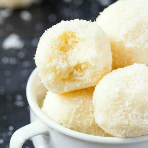 4 Ingredient No Bake Coconut Bites Keto Paleo Vegan Sugar Free An Easy 5 Minute Recipe For Soft Coconut In 2020 Coconut Balls Energy Bites Recipes Coconut Bites