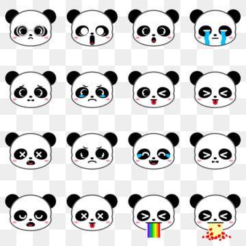 Gambar Panda Comel Beruang Emoji Koleksi Set 2 Clipart Panda Ikon Comel Ikon Emoji Png Dan Psd Untuk Muat Turun Percuma Kartun Menggambar Kepala Ide Menggambar