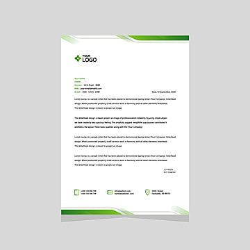 Desain Template Kop Surat Vektor Ukuran A4 Di 2020 Surat Teks Desainer