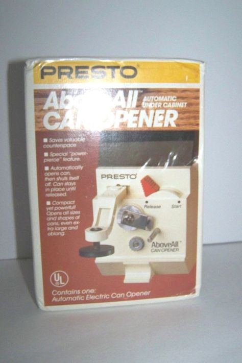 Vintage Presto AboveAll Automatic Under Cabinet Can Opener NEW ...