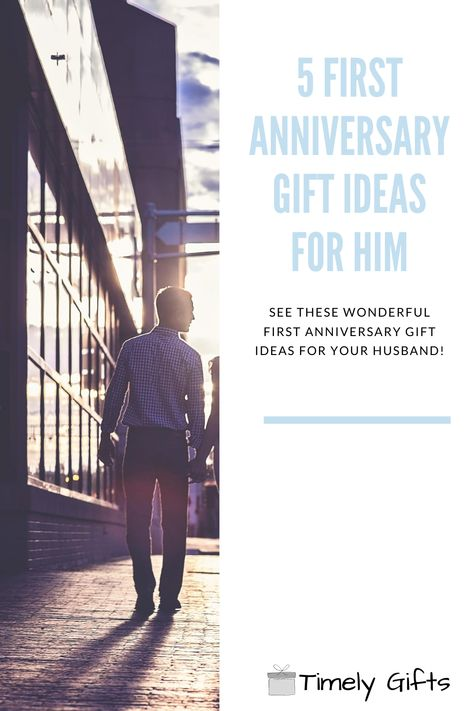 If you are looking for first anniversary gifts for him ideas you'll love this article! This article will have some fun and touching gift ideas for your husband on your first anniversary. These gifts are a great way to celebrate an important event in your life. Check out these great first anniversary gift ideas! #firstanniversary #giftsforhim #husbandgifts #husbandwife #mr&mrs #him&hergifts #ideas #couplegifts #touchinggifts #fungifts #greatgifts