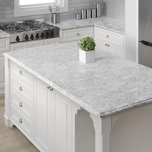 Allen Roth Oyster Cotton Quartz Kitchen Countertop Sample At