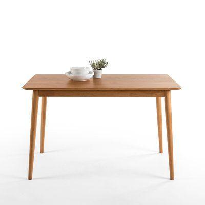 Kaylen Mid Century Modern Wood Dining Table Meja Makan Dapur