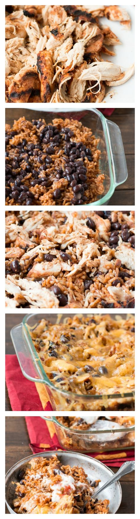 How to make a crazy delicious Mexican chicken and rice casserole ohsweetbasil.com.