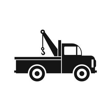 Car Towing Truck Icon In Flat Style Icon Tow Truck Clipart Car Car Icons Png And Vector With Transparent Background For Free Download Truck Icon Tow Truck Car Icons