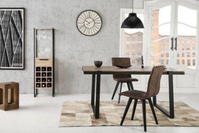Colonne Bar Industrielle Camden Chene Et Noir Decoration Maison Meuble Canape Mobilier De Cuisine