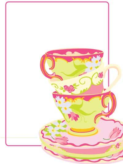 Download Now Free Printable Tea Party of Baby Shower Invitation - birthday invitation card empty