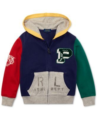 b9f0ca14 Little Boys Colorblocked Cotton Hoodie   macys.com   Kids Jacket ...