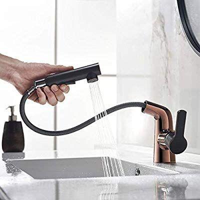 Amazon Hefo 洗面台蛇口 水栓 シャワー引き出し式 シングルレバー
