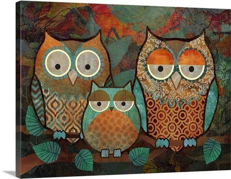 ~ Love these colors ~ (Owls III / Abby White)