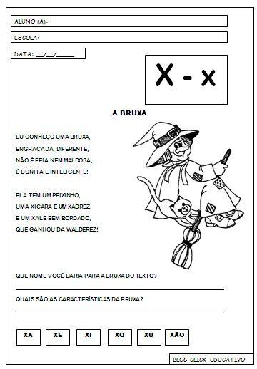 Ortografia Letra X Com Imagens Atividades Alfabetizacao