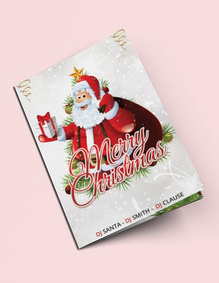 Christmas Party Bi Fold Brochure Template Free Publisher Word Apple Pages Psd Template Net Bi Fold Brochure Brochure Design Template Free Brochure Template