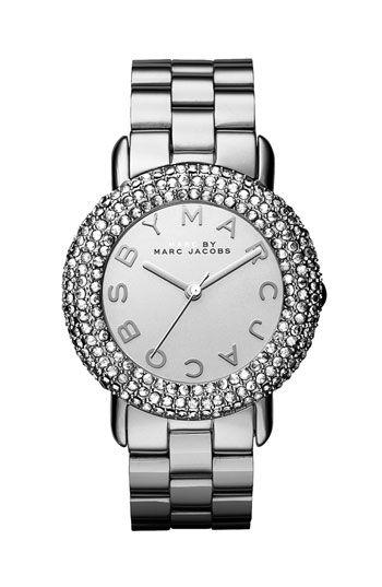 'Marci' Mirror Dial Crystal Bezel Watch