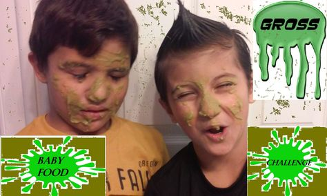 Baby Food Faced Challenge Game Cousinsplayground