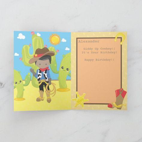 Howdy Little Cowboy | Boys Birthday Card