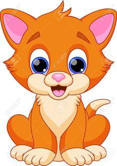 Dibujos Animados Graciosos Gato Animales Dibujos Animados Dibujos De Animales Tiernos Animales Para Imprimir
