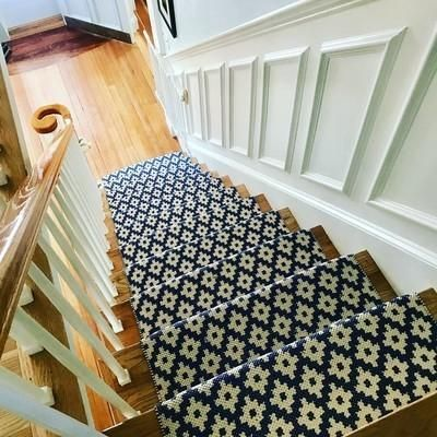 Samode Navy Ivory Indoor Outdoor Rug Dash Albert Stair   Indoor Outdoor Carpet For Stairs   Grey   Electric Blue   Wall   Carpet Runner   Trim