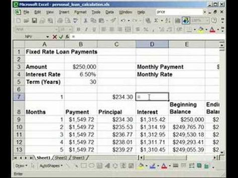 How to find Interest \ Principal payments on a Loan in Excel - excel mortgage calculator
