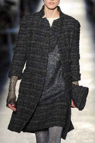 Chanel at Couture Fall 2012 - Chanel Clothes - Trending Chanel Clothes - Chanel Fall 2012 Details tunic/dress combo NO but jacket sleeves interesting enough to use my old Scottish wool fabric