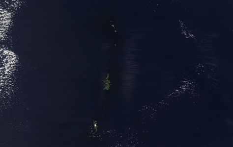 Ogasawara Gunto MODIS ◆Ogasawara-guntō – Wikipedia http://de.wikipedia.org/wiki/Ogasawara-gunt%C5%8D #Ogasawara_Islands #Bonin_Islands