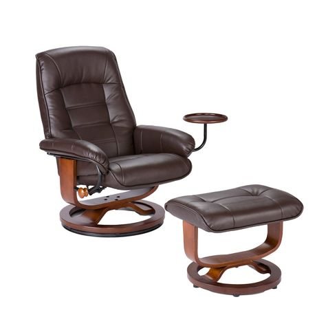 Pleasant Amazon Com Southern Enterprises Leather Recliner With Side Uwap Interior Chair Design Uwaporg