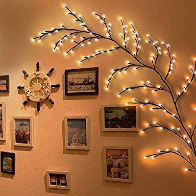 Amazon Com Kapata Home Decor Artificial Plants Flowers Tree Willow Vine Lights 144 Leds For Walls Bedroom Living In 2020 Tree Wall Decor Flower Bedroom Buy Led Lights
