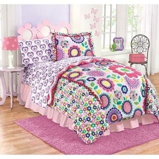 Just For Kids Floral Dream Medallion Reversible Twin Full
