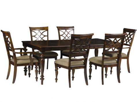 Woodmont Dining Set W 6 Chairs Rothman Furniture Dining Room