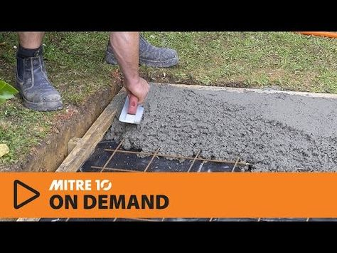 How To Lay A Concrete Pad Mitre 10 Easy As Youtube Concrete Pad Diy Concrete Patio Concrete Base For Shed