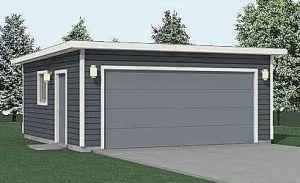 400 1ft 20 X 20 Flat Roof Garage Plan Garage Plans