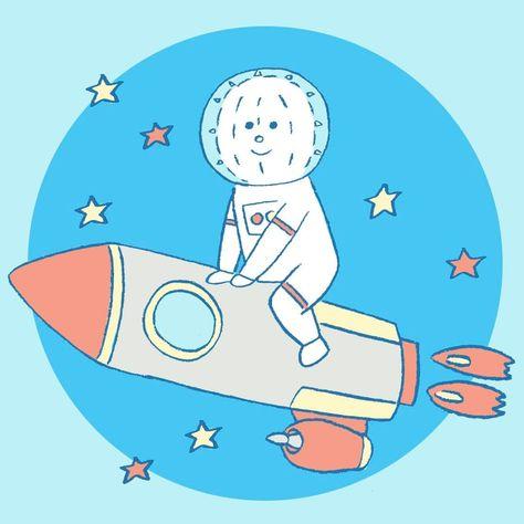 スペースイコール君 ・ 宇宙飛行を楽しむイコール君 #未来的だね #rocketdive をBGMに ・ ・ #宇宙 #ロケット #コスモ #星 #イラスト #イラストレーター #手描き #デザイン #絵本 #spaceflight #cosmos #rocket #illust #illustrate #illustrator #drowning #design #picturebook