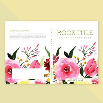 2020 的 Book Cover Design With Watercolor Floral And Leaves