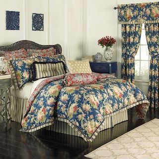 Waverly Sanctuary Rose 4 Piece Bed Set In 2020 Comforter Sets Waverly Bedding Rose Bedding
