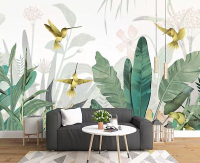 3d Plant Birds N885 Wallpaper Wall Mural Removable Self Adhesive Sticker Amy Ebay Room Wall Decor Mural Wallpaper Wall Decor Living Room