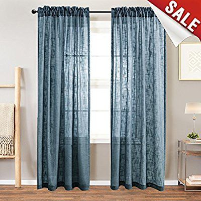 Amazon Com Pony Dance Curtains Sheers Voile Linen Look White
